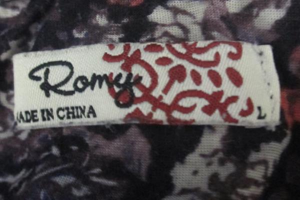 Women's Lot of 2 Blouse Tank Top Eye Shadow Romy Cream Purple Floral Size L