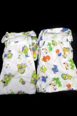 Lot of 2 Pairs Boy Pajamas Top & Bottom White Multi-Color Bears Circus Size 11