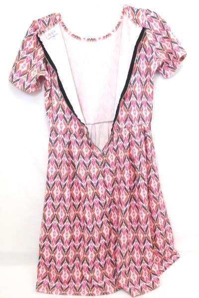 Women's Dress by Lularoe White Pink Black Red Design Short Sleeve Size S