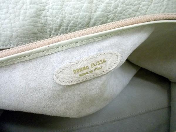 DONNA ELISSA Light Tan Genuine Crocodile Leather Crossbody Purse XL Bag Italy
