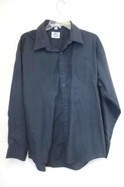 Men's Wear International Men's Button Up Long Sleeves Cuff Shirt Blue Size 34/35