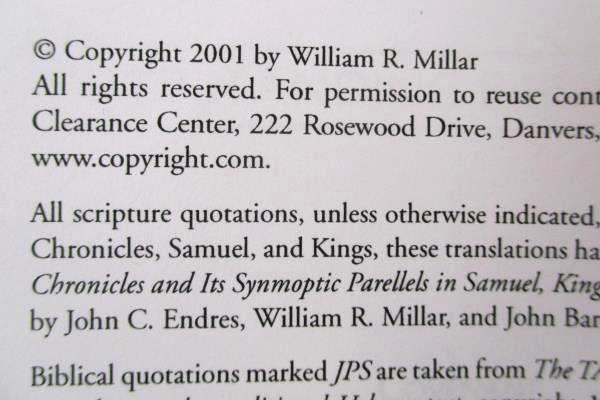 Priesthood In Ancient Israel by William R Millar 2001 SC Biblical Understanding