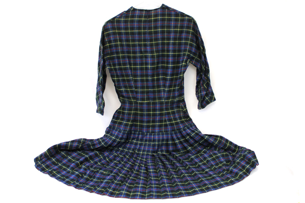 Vintage Handmade Pep Pipe Band Uniform Pleated Skirt Hat Sash Plaid Majorette