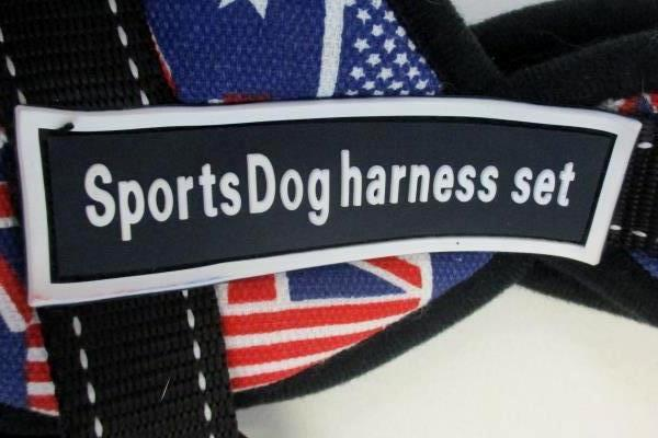 Sports Dog Harness Size XS With UK & US Flag Design Lot of 2
