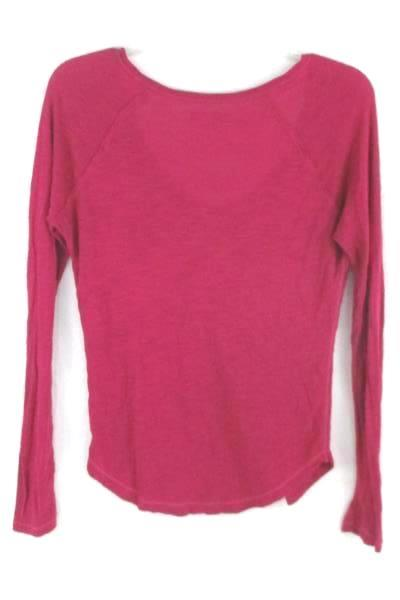 Aerie Pink Long Sleeve Blouse Top Women's Size Small