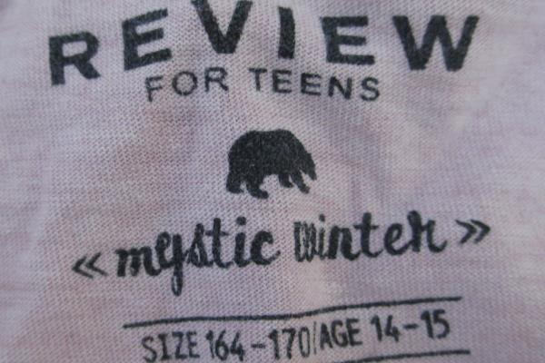 Review For Teens Junior Girl Long Sleeved Top Pink Size 164-170 Age 14-15