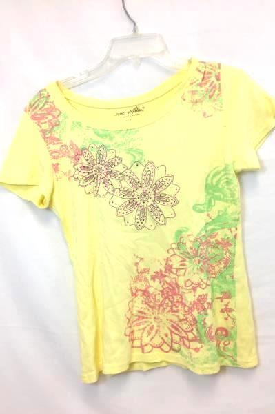 Lot Of 2 Jane Ashley Mossimo Women's Shirts Floral Turquoise Grey Yellow Size S