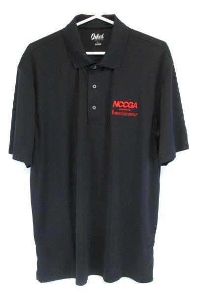 Oxford America Men's Black NCCGA Nextgengolf Shirt Size Large With Tag