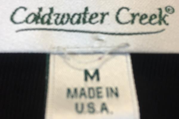 Lot of 2 T-Shirt & Leggings  By Coldwater Creek & Gap Black Women's Size M