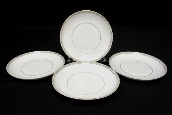 Vintage 4 Piece Set Heinrich & Co Selb Dallas China 4 Saucers Bavaria