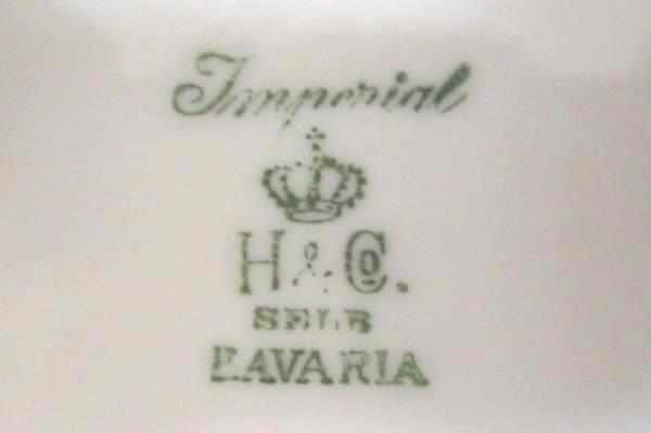 Vintage Imperial Heinrich & Co Selb Bavaria Dallas Creamer & Lidded Sugar Bowl