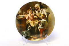 """1977 Rockwell Museum The Toy Maker Norman Rockwell Collector Plate 8.5"""""""
