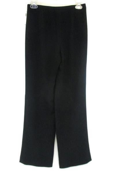 Calvin Klein Women's Dress Pants Black Wide Leg Size 2 With Tags Zipper Fly