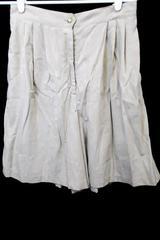 Bentley Tan Shorts Half Stretchy Elastic Waist Women's Size L Gold Button