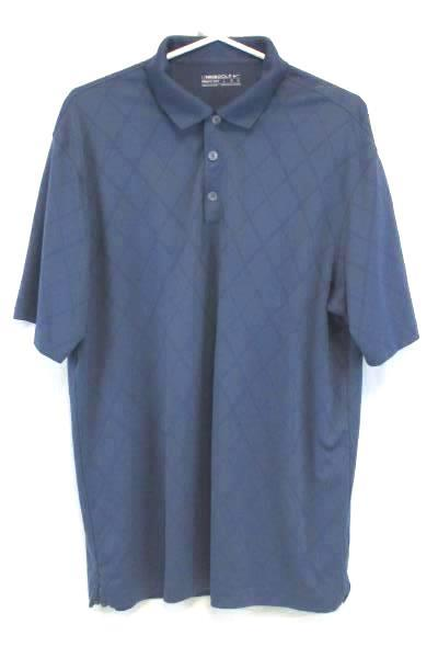 NIKE Men's Golf Fit-Dry Polo Shirt Blue Size Large Casual Athletic Button Up