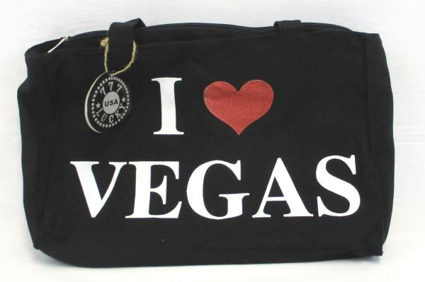 Women's Shoulder Tote Shoppers Bag By 777 Lucky Black I Love Vegas