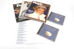 Lot of Princess of Diana People Magazine 1997 with Tribute Memory Elton John CD