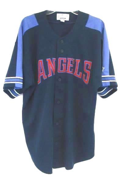 Vintage Starter Blue Jersey Los Angeles Anaheim Angels MLB Men's Size 2XL