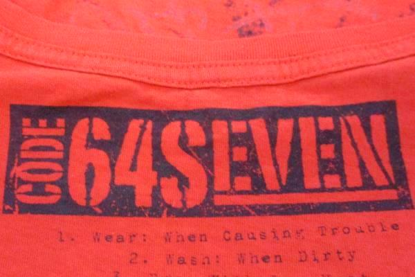 Men's Code64Seven Wicked Quickie Tee Red Graphic Shirt Cotton Size XL