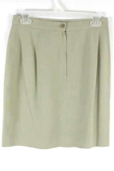 TAMOTSU Women's Khaki Beige Skirt Size 8 Button Zipper Closure