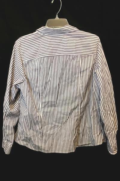 Christopher Banks Men's Button Up Shirt White Brown Long Sleeve Size XL