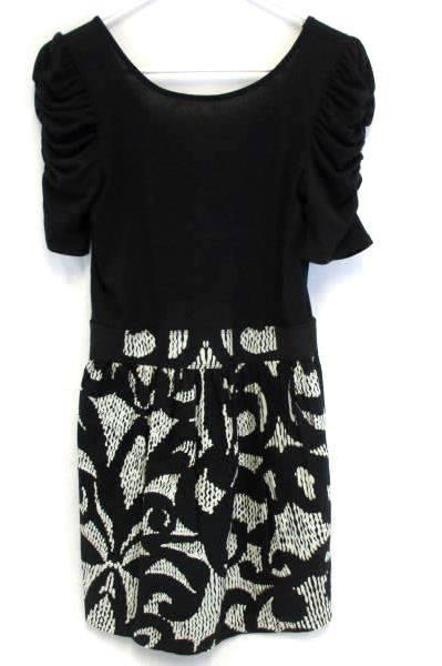 Necessary Objects Juniors Black White Dress Size Medium With Tags Stretch Waist