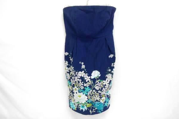 Old Navy Womens Strapless Empire Waist Summer Work Dress Size 8 Blue