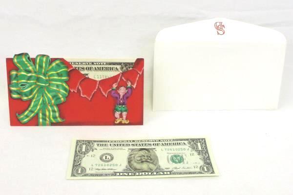 Santa Claus Dollar Bill Legal Tender Easter Seals Safeway Christmas Series 1993