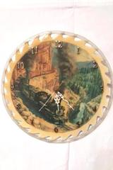 "Saw Blade 12 Hour Clock ""Above the Canyon Stream"" Engines Ted Xaras Artwork"