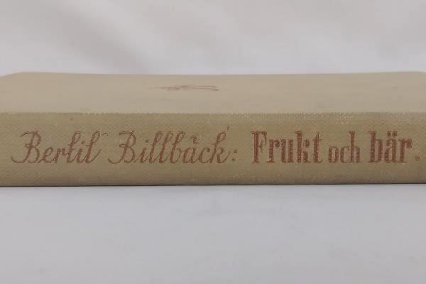 1941 Frukt och Bar by Bertil Billback German Book About Growing Fruit Trees