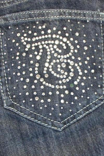 True Jeans Juniors Medium Wash Sz 28 Denim Of True Jeans Sparkly Design Pockets