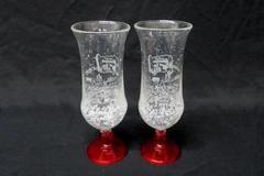 "Partylite 35th Anniversary 2 Plastic Cocktail Glasses ""Adventure at Sea 2008"""
