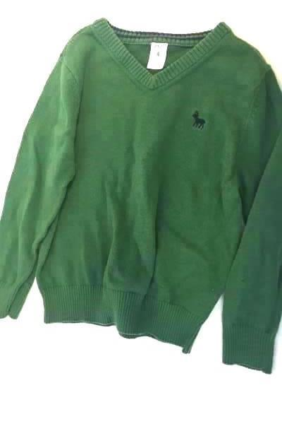 Carters Boy's Green Sweater Size 4 100% Cotton