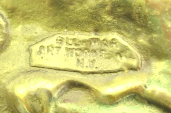 Vintage Glo Mar Art Works NY. Brass JESTER Ashtray