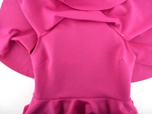 ASOS Pink Off Shoulder A Line Scuba Party Dress Ruffles Midi Sz 6 ~ NWT
