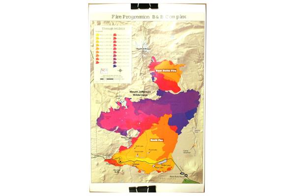Black Butte Ranch Aspen 2004 Calendar Poster With 2003 Fire Progression Guide