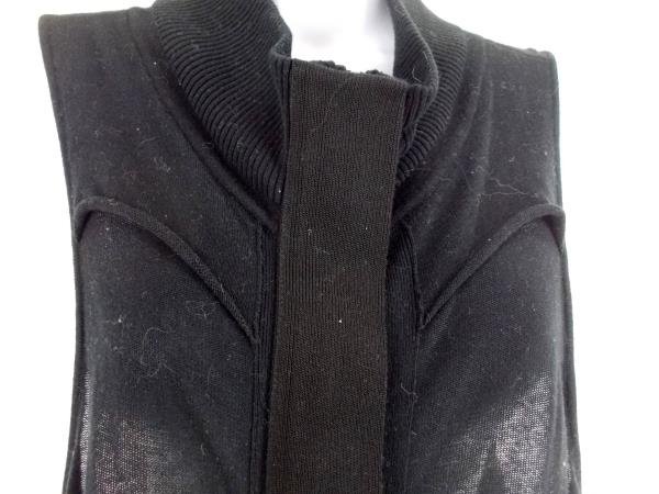 OHNE TITEL Knit Top Black Sleeveless Zipper Sheer Stretch Womens's Sz S