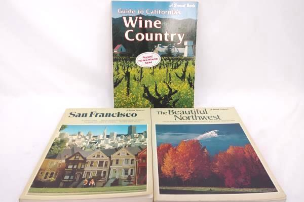 Lot of 3 Sunset Pictorial Books San Francisco, Beautiful NW, Cali Wine Country
