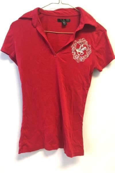 Woman's Polo Shirt Red Size Small By Beverly Hills Polo