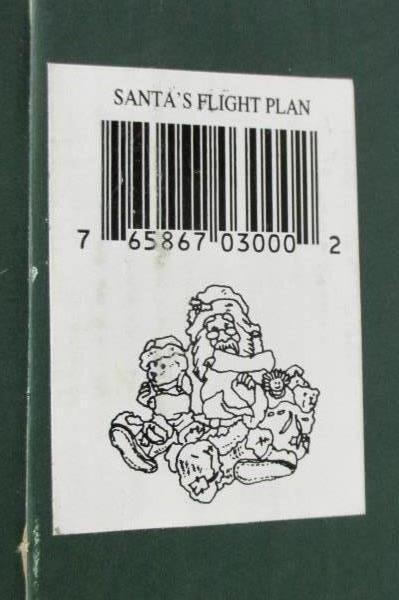 1994 Boyds Collection Santa & Friends #3000 Flight Plan Series 1 Edition 8E