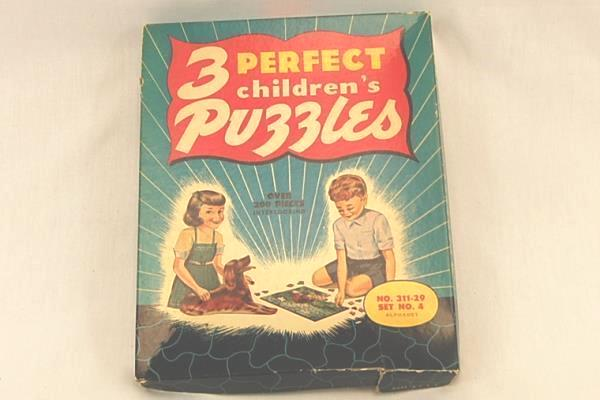 Vintage Mid Century 3 Perfect Children's Puzzles No. 311-29 Alphabet Good Cond.