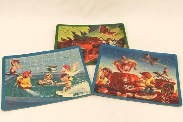 Vintage Mid Century 3 Perfect Children's Puzzles No. 311-29 Alphabet Good Cond.