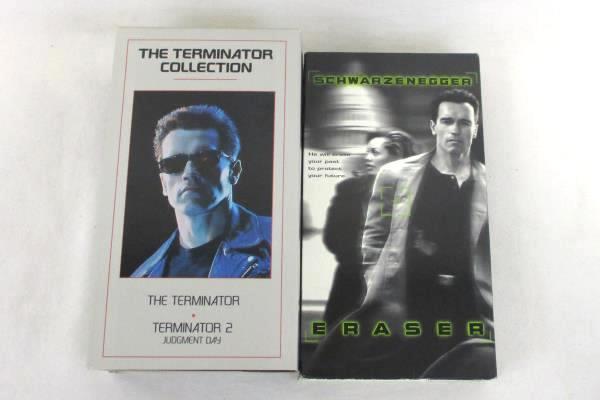 Lot of 2 Arnold Schwarzenegger VHS Movies Eraser & The Terminator 1 & 2