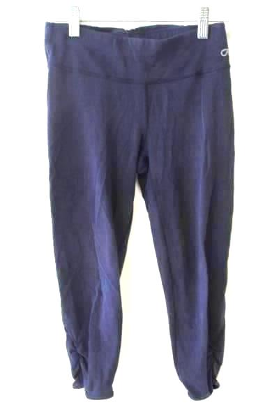 GapFit Solid Navy Blue Women's Leggings Ruffled Bottom Size XS