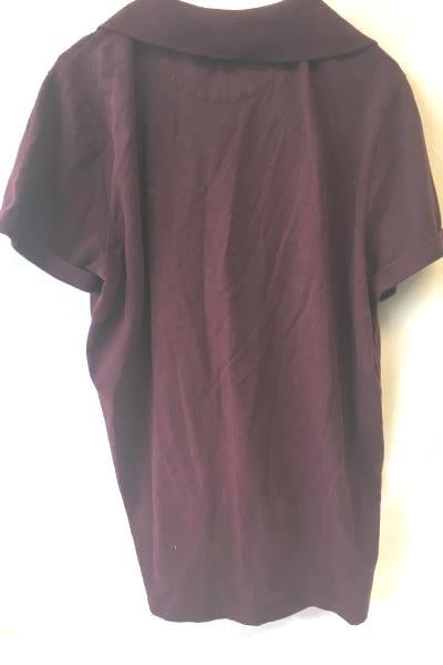 American Eagle Logo Men's Maroon Buttoned Collared Cotton Shirt Size Large