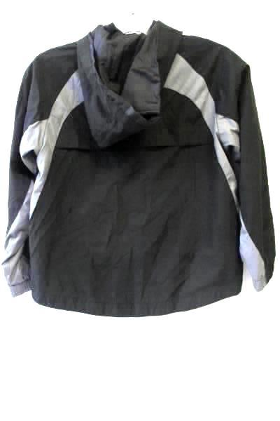 Cherokee Kids Boy's Black & White Hooded Windbreaker Jacket Size Small (6/7)