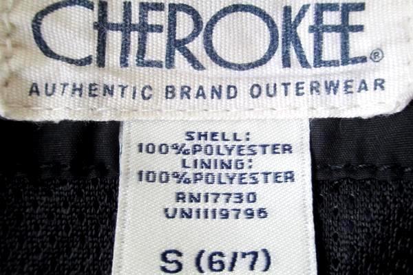 Cherokee Kids Boy's Black & White Hooded Windbreaker Jacket Size Small (6/7)