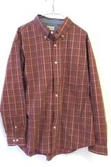 Haggar Men's Multicolor Causal Button Up Long Sleeves Collar Plaid Shirt Sz XL