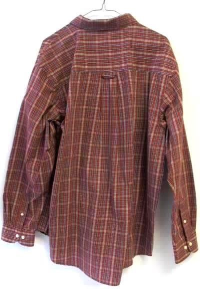 Haggar Men's Multicolor Causal Button Up Long Sleeves Collar Plaid Shirt Sz XL