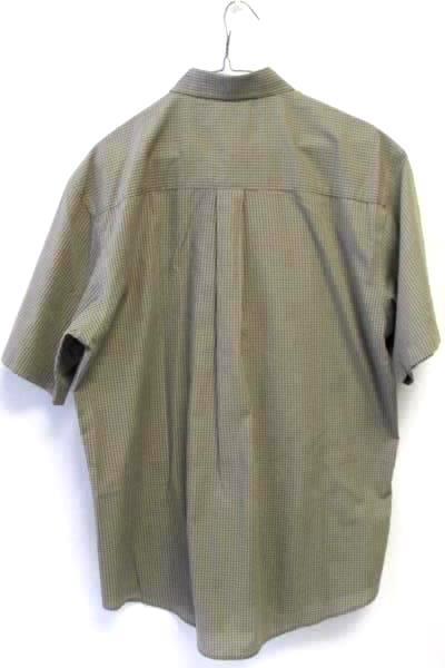 Van Heusen Men's Brown Striped Causal Button Up Shirt Short Sleeve Sz L 16-16.5